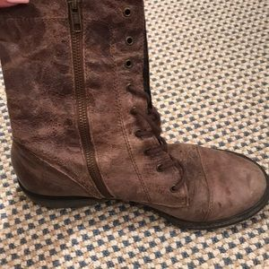 Mia Shoes - Distressed Combat Boots